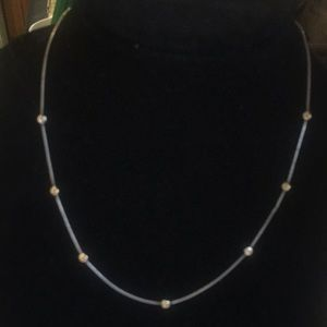 Silpada sterling silver/gold plated necklace